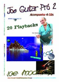 Joe Guitar Pro 2 - Acompanha 4 CDS 20 Playbacks